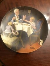 New Listing1985 Boxed Norman Rockwell The Gourmet 8.5� Porcelain Plate W' Coa