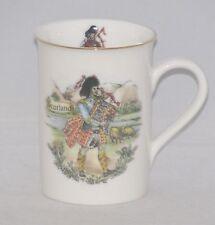 Sheltonian Fine English Bone China Tea or Coffee Mug SCOTTISH BAG PIPER