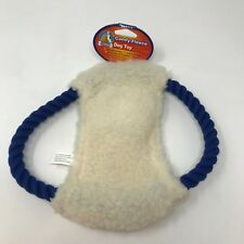 Dog Life Comfy-Fleece Rope Disc Dog Toy 10 Inch Squeeky NWT