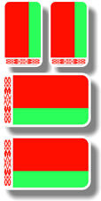 Vinyl sticker/decal Extra small 45mm & 35mm Belarius flags - group of 4