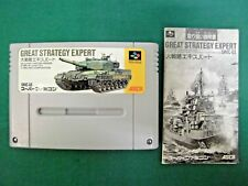SNES -- GREAT STRATEGY EXPERT -- Can be data save! Super famicom. Japan.  12797