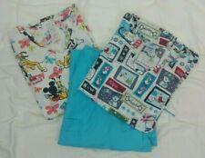 Lot 2 Womens 1-Scrubs/1-Disney Top 1 Pair Scrubs Pants XL/2X