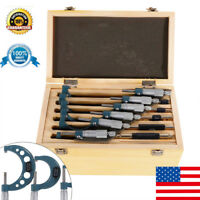 Outside Micrometer 6 Pcs/Set Metalworking  PRECISION OUTSIDE MICROMETERS UPS