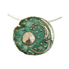Markenlose Echte Edelmetall-Halsketten & -Anhänger ohne Steine im Collier-Stil für Damen