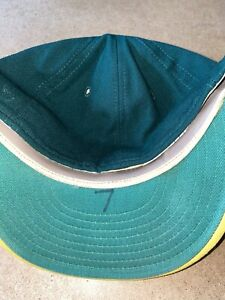 OAKLAND ATHLETICS A'S #7 DAN MEYER PLAYER BASEBALL WORN HAT CAP VINTAGE