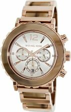 NEW-MICHAEL KORS LILLIE ROSE GOLD TONE,CHRONOGRAPH,BRACELET WATCH MK5791