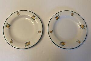 Pair Of Doulton Everyday Apricots Pattern Tea Plates. TC5022