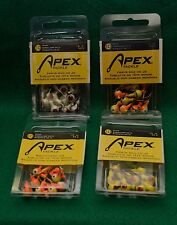 APEX TACKLE JIG 10 PACK 1/8 OZ 4 PACK BUNDLE