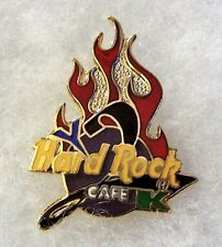 HARD ROCK CAFE ONLINE MILLENNIUM Y2K FLAME LOGO PIN # 2828