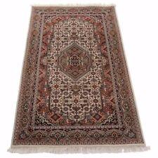 Indo Bidjar 161 x 91cm, handgeknüpft, Orientteppich 100% Schurwolle in beige Neu