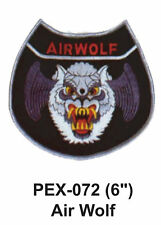 """AIR WOLF Embroidered Military Extra Large Patch (6"""")"""