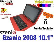 """FUNDA CON TECLADO TABLET SZENIO 2008 10.1"""" 100 Q VARIOS COLORES SCENIO"""