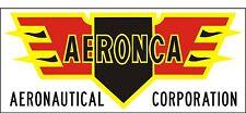 A065 Aeronca Aeronautical Airplane banner hangar garage decor Aircraft signs