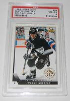 1993 Upper Deck Wayne Gretzky #99 Gold 802 Goals Card PSA 4  Very Good/Excellent