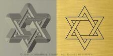 #R30 JUDAISM STAR OF DAVID Religious HAND STAMP Blacksmiths Platinum Metal Die