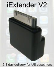 Dock Extender V2 30 pin Adaptor Black Basic X1 deal for iPods iPhones iPads etc.