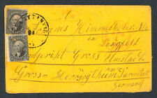 USA, 1859, Auslandsbrief nach Darmstadt frankiert 2 x 12 cent Washington Mi 12