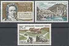 3 TIMBRES DE 1957 N°1139/1150/1151 NEUF ** LUXE GOMME D'ORIGINE MNH