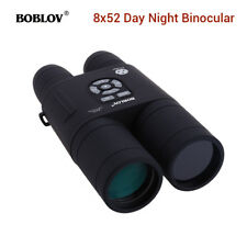 BOBLOV Night Vision Binocular 8X Zoom 52mm 355 PPI With APM Function IR Camera