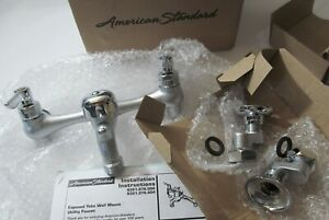 """NEW AMERICAN STANDARD 8351076.004 SERVICE SINK FAUCET WALL MOUNT 8"""" WIDESPREAD"""