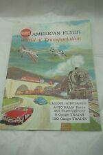 VINTAGE AMERICAN FLYER CATALOG 1962 HO S GAUGE TRAINS SLOT CARS OPERATING CARS