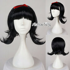 Ladies Flick Wig Black For Role Snow White Beehive Bob Wig Fancy Dress Party