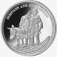 SIMPSON AND HIS DONKEY Commemorative Macquarie Mint Coin