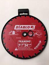 """Freud Diablo 7 1/4"""" 184mm 24 Teeth Framing Saw Blade D0724R"""