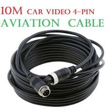 10M Video&Power 4-Pin Aviation Extension Cable for Car Truck Rear view Camera
