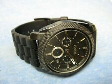 Men's Larger FOSSIL Water Resistant Chronograph Watch w/ New Battery