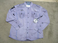 NEW Roar Button Up Shirt Adult Extra Large Purple Club Wear Long Sleeve Mens