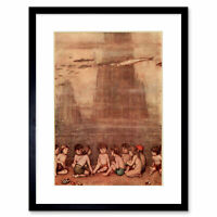 Painting Book Kingsley Water Babies Robinson Group Framed Art Print 12x16 Inch
