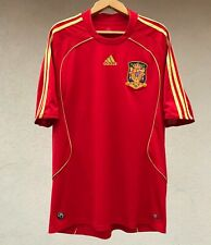 SPAIN NATIONAL TEAM 2007/2009 HOME FOOTBALL SOCCER SHIRT JERSEY CAMISETA ADIDAS