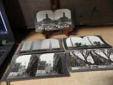LOT OF 5 ANTIQUE B&W Keystone Stereoview Cards IBOSTON MASS STREET VIEWS MORE