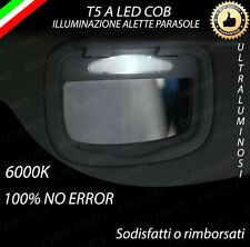 ALETTE PARASOLE T5 A LED PER FIAT 500X 500 X 6000K ALTA LUMINOSITA' NO ERROR