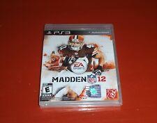 Madden NFL 12 (Sony PlayStation 3, 2011 PS3)-New