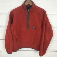 Patagonia Men's Classic Synchilla Fleece Marsupial Pullover Red Small ***Flaw***