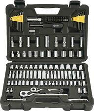 Stanley Tool Socket Set Kit Wrench Ratchet Drive SAE Metric Mechanic Craftsman