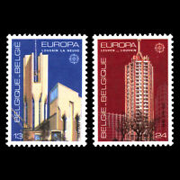 Belgium 1986 - EUROPA Stamps - Modern Architecture - Sc 1268/9 MNH