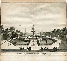 Vue de la grande fontaine d'Aranjuez gravure par Van der Aa