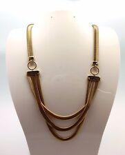 ANNE KLEIN Goldtone Three Layer Snake Chain Necklace
