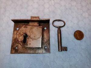Drawer Lock Furniture Period Handmade Semi-mortise Large