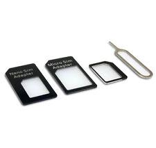 4 in 1 Nano Sim Card Adattatore Convertitore da Micro Sim + STANDARD SIM per iPhone 6