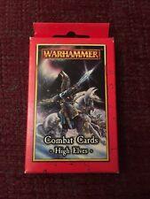 Warhammer Elfos de alta Tarjetas de combate ~ Nuevo Y Sellado!