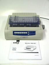 OKI MICROLINE 420 Workgroup 9 Pin Dot Matrix Printer - Used - Working - NO DISC