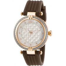 Invicta Reloj De Mujer Correa Goma Marrón Esfera Blanca Perno de 31029