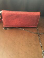 Elizabeth Arden Red Holiday Bag /Clutch with removable chain strap New