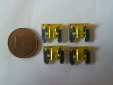 4 micro mini fusibles 20A 20 Amp auto moto car automobile voiture 11x10 mm