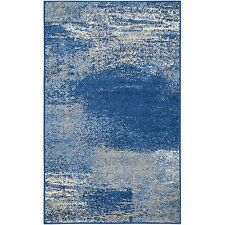 Safavieh Adirondack Collection ADR112F Silver and Blue Modern Abstract Area Rug