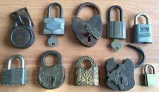 OLD VTG ANTIQUE LOCK KEY SIMMONS YALE EASTLAKE W MFG LUDELL MASTER LOT OF 10